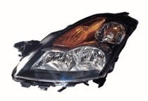 2007 - 2009 Nissan Altima Headlight Assembly (with Halogen + Sedan) - Left (Driver)