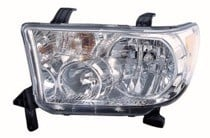 2007 - 2013 Toyota Tundra Pickup Front Headlight Assembly Replacement Housing / Lens / Cover - Left (Driver)