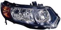 2008 - 2009 Honda Civic Front Headlight Assembly Replacement Housing / Lens / Cover - Right (Passenger)