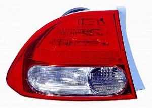 2009-2010 Honda Civic Tail Light Rear Brake Lamp (Sedan) - Left (Driver)