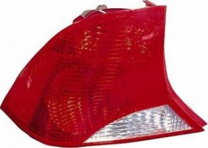 2003-2004 Ford Focus Tail Light Rear Lamp (Sedan / without Bulb or Socket / with Black Housing) - Left (Driver)