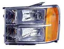 2007 - 2013 GMC Sierra Pickup Front Headlight Assembly Replacement Housing / Lens / Cover - Left (Driver)