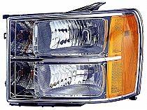 2007-2011 GMC Sierra Pickup Headlight Assembly - Left (Driver)