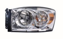 2007 - 2009 Dodge Ram Front Headlight Assembly Replacement Housing / Lens / Cover - Left (Driver)