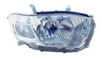 2008 - 2010 Toyota Highlander Headlight Assembly (Base + Limited Model) - Right (Passenger) Replacement