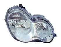 2005 - 2007 Mercedes Benz C230 Front Headlight Assembly Replacement Housing / Lens / Cover - Left (Driver)