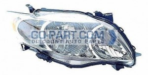2009-2010 Toyota Corolla Headlight Assembly (Base/CE/LE/XLE) - Right (Passenger)