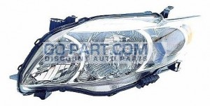 2009-2010 Toyota Corolla Headlight Assembly (Base/CE/LE/XLE) - Left (Driver)