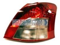 2007-2008 Toyota Yaris Tail Light Rear Brake Lamp - Right (Passenger)