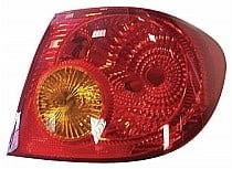 2003 - 2005 Toyota Corolla Rear Tail Light Assembly Replacement / Lens / Cover - Right (Passenger)