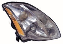 2004 - 2005 Nissan Maxima Front Headlight Assembly Replacement Housing / Lens / Cover - Right (Passenger)