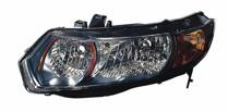 2008 Honda Civic Front Headlight Assembly Replacement Housing / Lens / Cover - Right (Passenger)