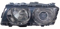 1999 - 2001 BMW 740i Headlight Assembly (Xenon + with Black Bezel Lens) - Left (Driver)