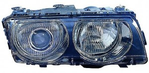 1999-2001 BMW 740i Headlight Assembly (Xenon / with Black Bezel Lens) - Left (Driver)