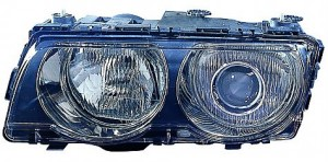 1999-2001 BMW 740i Headlight Assembly (Xenon / with Black Bezel Lens) - Right (Passenger)
