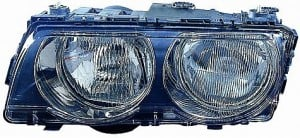 1999-2001 BMW 740i Headlight Assembly (Halogen / with Bright Bezel Lens) - Left (Driver)
