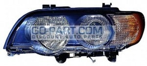 2000-2003 BMW X5 Headlight Assembly (Xenon / with White Turn Signals) - Left (Driver)