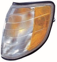 1995 - 1999 Mercedes Benz S500 Parking + Signal Light Assembly Replacement / Lens Cover - Left (Driver)