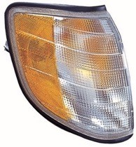 1995 - 1999 Mercedes Benz S420 Parking + Signal Light Assembly Replacement / Lens Cover - Right (Passenger)