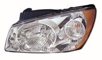 2004 - 2006 Kia Spectra Front Headlight Assembly Replacement Housing / Lens / Cover - Right (Passenger)