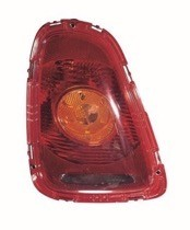 2007 - 2010 Mini Cooper Tail Light Rear Lamp (with Amber Lens) - Left (Driver)