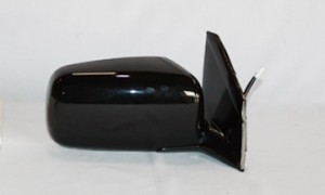 2002-2005 Mitsubishi Lancer Side View Mirror (Non-Heated / Power Remote / Fold-Away / Black / Lancer ES) - Right (Passenger)