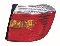 2008 - 2010 Toyota Highlander Tail Light Rear Lamp (OEM + Base) - Right (Passenger)