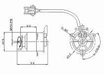 1995-1998 Mazda Protege Radiator Cooling Fan Motor (Left Side / 1.5L)