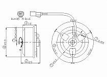 1999 - 2004 Honda Odyssey Condenser Cooling Fan Motor