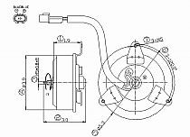 1997 - 2004 Mitsubishi Montero Sport Condenser Cooling Fan Motor