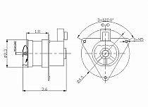 1996-1998 Mazda Protege Condenser Cooling Fan Motor