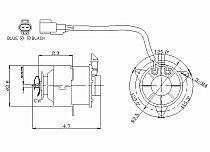 1992 - 1999 Toyota Celica Radiator Cooling Fan Motor