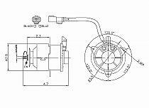 1997-1997 Acura 2.2/3.0CL Radiator Cooling Fan Motor