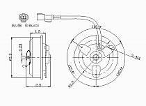 1994 - 2001 Acura Integra Condenser Cooling Fan Motor
