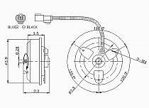 1992 - 1998 Honda Civic Condenser Cooling Fan Motor