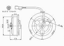 1999 - 2001 Honda CR-V Condenser Cooling Fan Motor