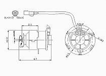 1994-2001 Acura Integra Radiator Cooling Fan Motor