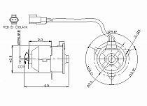 2000 - 2001 Toyota Camry Radiator Cooling Fan Motor (Left Side / 4 Cylinder / USA)