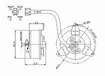 2000 - 2001 Nissan Maxima Radiator Cooling Fan Motor