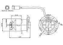 1992 - 1996 Toyota Camry Condenser Cooling Fan Motor
