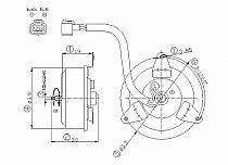 2002-2007 Mitsubishi Lancer Radiator Cooling Fan Motor