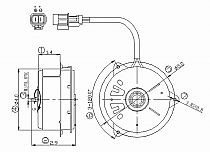1999 - 2001 Chevrolet (Chevy) Tracker Condenser Cooling Fan Motor