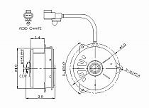 1999-1999 Toyota Camry Radiator Cooling Fan Motor (Left Side / V6 / Japan Built)