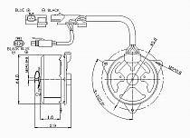 1995 - 1999 Dodge Neon Condenser Cooling Fan Motor