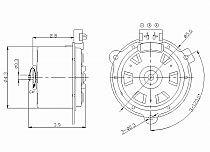 1998-2000 Mercury Grand Marquis Radiator Cooling Fan Motor