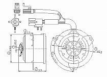 2000-2002 Mercury Grand Marquis Radiator Cooling Fan Motor