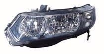 2010 - 2011 Honda Civic Front Headlight Assembly Replacement Housing / Lens / Cover - Left (Driver)