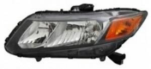 2012-2012 Honda Civic Headlight Assembly - Left (Driver)