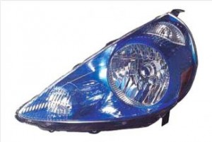 2007-2008 Honda Fit Headlight Assembly (Vivid Blue) - Left (Driver)