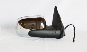 2006-2011 Chevrolet Chevy HHR Side View Mirror (Bright Chrome / Power Remote / Non-Heated) - Right (Passenger)